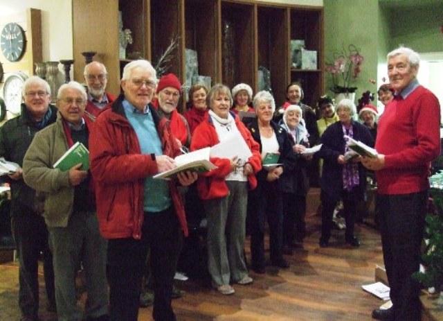 Carol-Singers-at-Drum-Garden-Centre